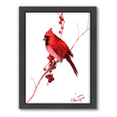personalized kitchen sign island seats 6 suren nersisyan red cardinal bird wall art - bed bath & beyond