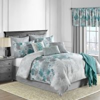 Claire 10-Piece Comforter Set in Teal - Bed Bath & Beyond