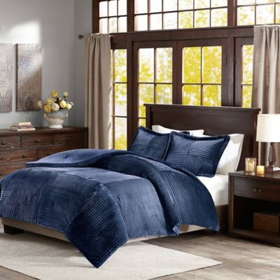 Madison Park Parker Corduroy Plush Comforter Set  Bed Bath  Beyond