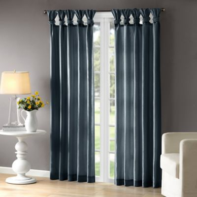 Madison Park Emilia Room Darkening Tab Top Window Curtain Panel In Teal Bed Bath Amp Beyond