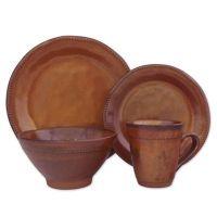 Sango Cyprus 16-Piece Dinnerware Set in Sienna - Bed Bath ...