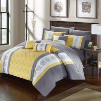 Buy Chic Home Adam 8-Piece Twin Comforter Set in Yellow ...