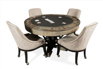 table with chairs grey spandex chair covers game set and billiard factory