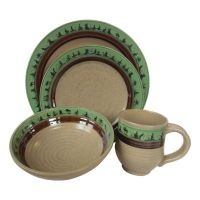 Artables Earthart 16-Piece Stoneware Pottery Set ...