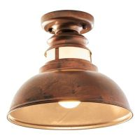 "Weather Copper 9.75"" Ceiling Light 