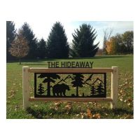 Clingerman's Personalized Log Wildlife Welcome Signs - 4 ...