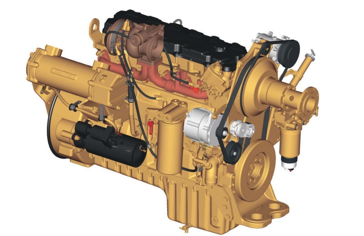 hight resolution of the cat c9 engine