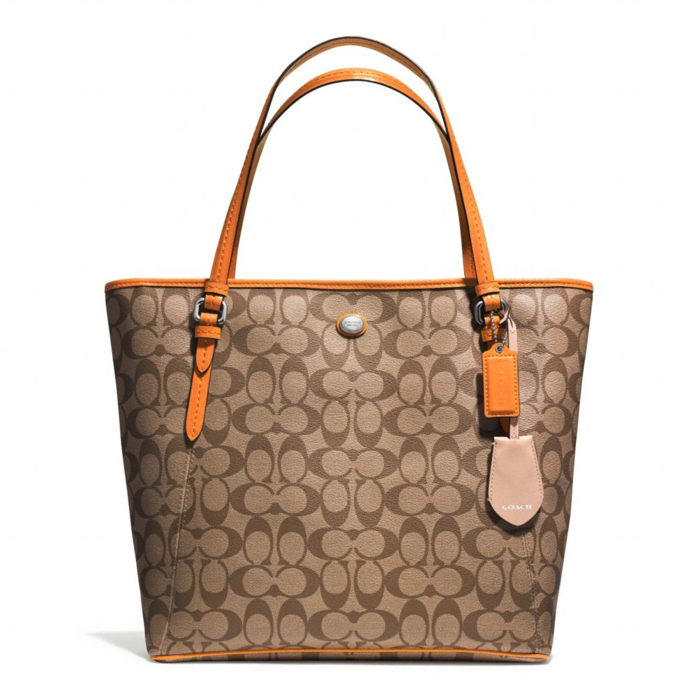 COACH F28365 PEYTON SIGNATURE ZIP TOP TOTE - SVB10 - 蔻馳 f28365 - COACH HANDBAGS Coach f28365 女式 ...