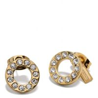 $29 PAVE STUD EARRING COACH F99734 GOLD/GOLD | JEWELRY ...