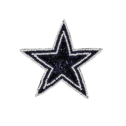 dallas cowboys sequin star hair