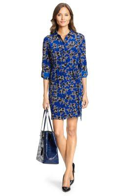 Prita Silk Shirt Dress