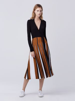 DVF Wrap Pleated Dress
