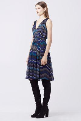 Wrap DVF Chiffon Dress