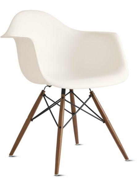 eames arm chair swivel rocker patio chairs molded plastic armchair dowel base herman miller