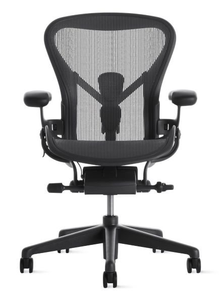 aeron chair review 2017 rubber pads chair. basic model by herman miller ae101out. used size b ...