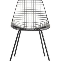 Black Wire Chair Childrens Chairs With Arms 2 Eames 4 Leg Dkx 0 Design Within Reach
