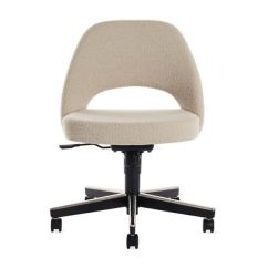 Chair With Wheels Steel Vip Saarinen Executive Side Casters Design Within Reach