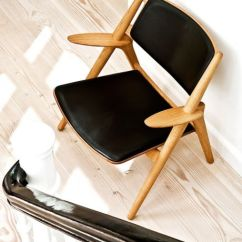Hans Wegner Chairs Design Within Reach Black Accent Chair Sawbuck -