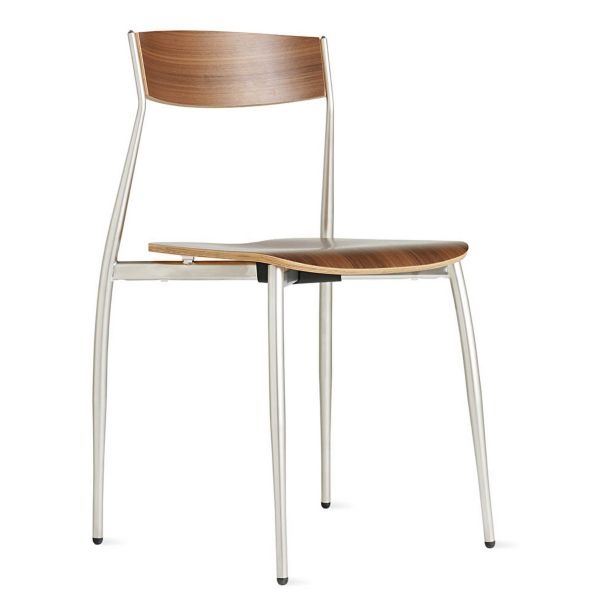 design within reach chair walnut better posture baba side -