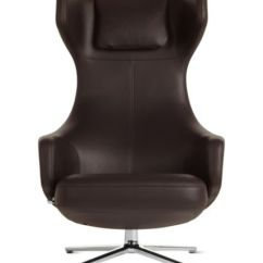 Lounge Chair Leather Stretch Covers For Wing Chairs Uk Grand Repos And Ottoman Design Within Reach