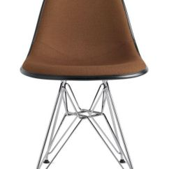 Eames Leather Chair Dining Beauty Shop Chairs Molded Fiberglass Side Dowell Base Upholstered Herman Wire Dfsr