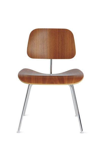 Eames Molded Plywood Dining Chair with Metal Base  Herman