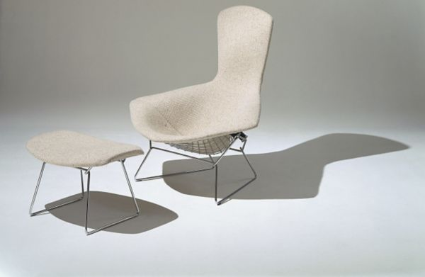 Bertoia Chairs Bertoia Bird Chair With Full Cover In Classic Bouclé