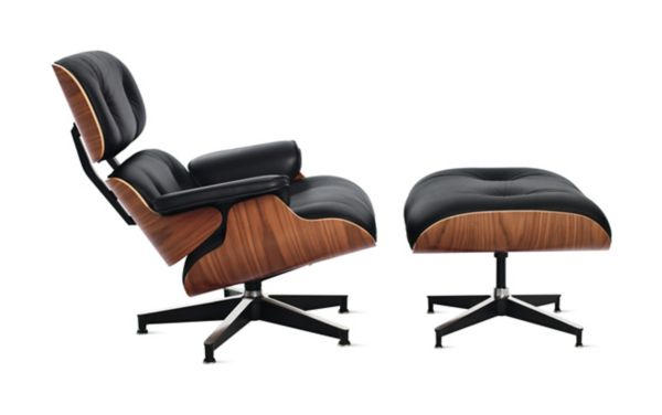 recliner chair with ottoman manufacturers big man lawn eames lounge and design within reach
