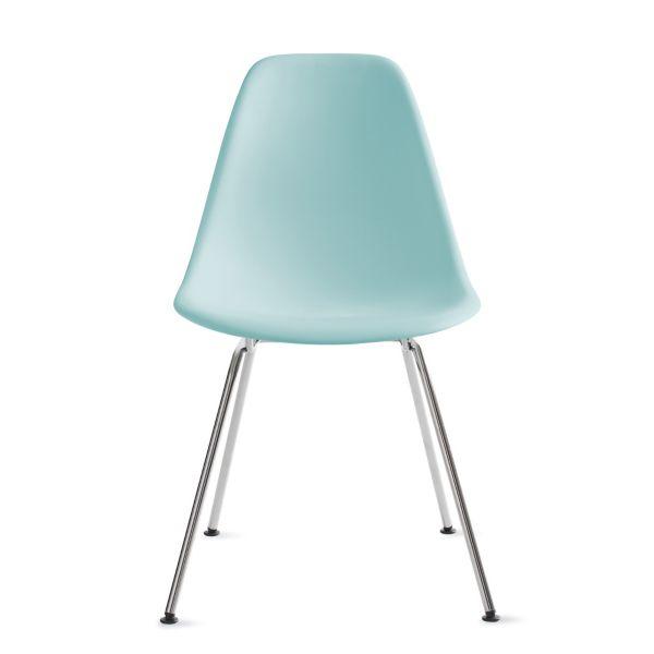 eames bucket chair desk wood molded plastic side 4 leg base herman miller