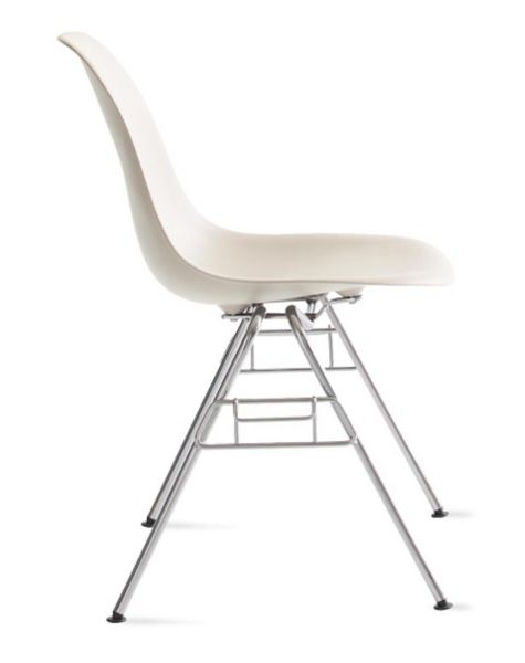 herman miller stacking chairs target dining gray eames molded plastic side chair base