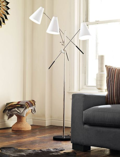 floor lamp living room pictures for rooms walls tri arm design within reach