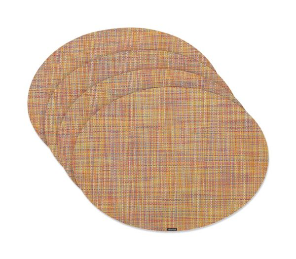 chilewich mini basketweave oval