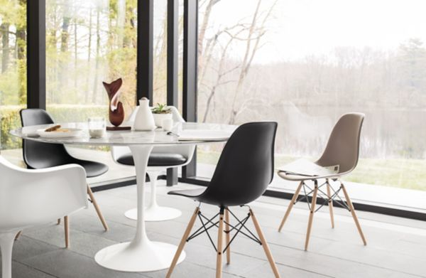 tulip table and chairs revolving chair technical specification saarinen round dining design within reach
