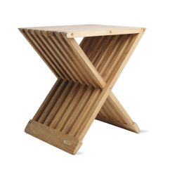Teak Folding Chairs Canada Red Chair Sashes For Wedding Fionia Stool Design Within Reach