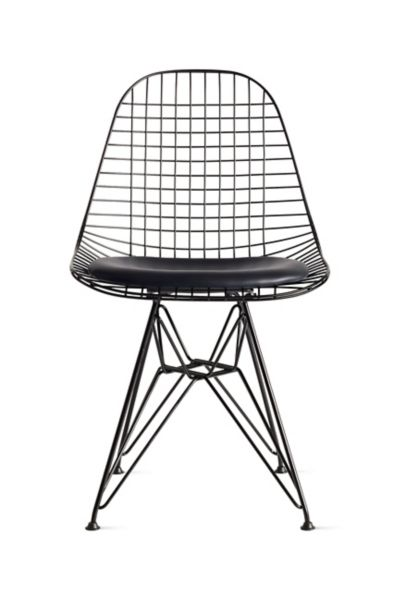 black wire chair ikea covers aron eames with seat pad herman miller