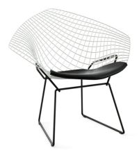 Bertoia Two-Tone Diamond Lounge Chair with Seat Pad ...
