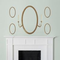 Oval Mirror with Candle Sconces Wall Decal | Shop Fathead ...