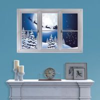 Santa Sleigh: Instant Window Wall Decal | Shop Fathead ...