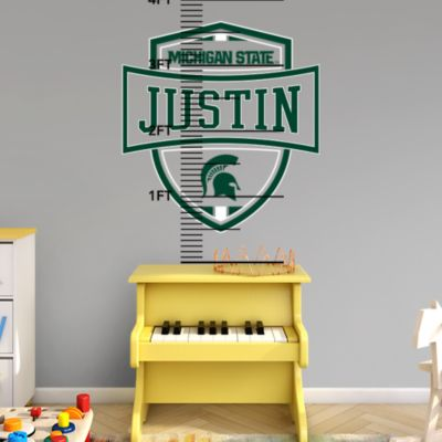 Detroit Lions Stacked Personalized Name Wall Decal