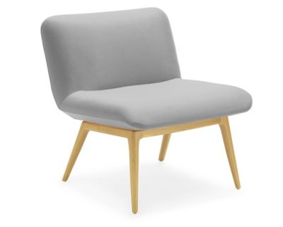 November Armless Lounge Chair with Wood Base  HBF Furniture