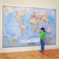 World Classic Wall Map, Mural - National Geographic Store