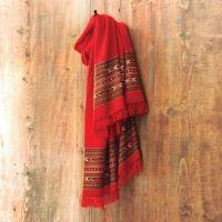 Himalayan Red Wool Shawl