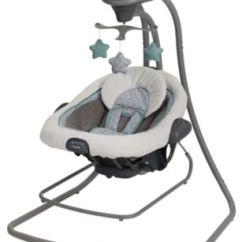 Graco Swing Chair Zebra White Glider Rocking Baby Swings Duetconnect Lx