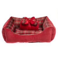 Grreat Choice Plaid Pet Bed Gift Set