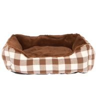 Grreat Choice Checkered Cuddler Pet Bed