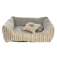 Grreat Choice Stripes Cuddler Pet Bed Gift Set