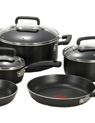 T-fal Signature Total Nonstick 12-pc. Black Cookware Set
