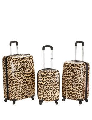 Rockland 3-pc. Leopard Print Hardside Luggage Set Stage