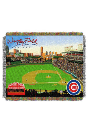 Chicago Cubs Woven Tapestry Throw