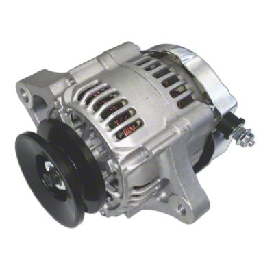 mini 35 amp 12 v negative ground alternator with pulley [ 1200 x 1200 Pixel ]